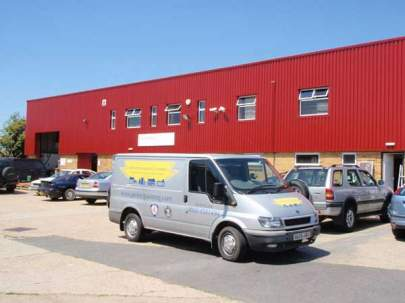 Factory Unit, Lancing, West Sussex - Commercial Decorating